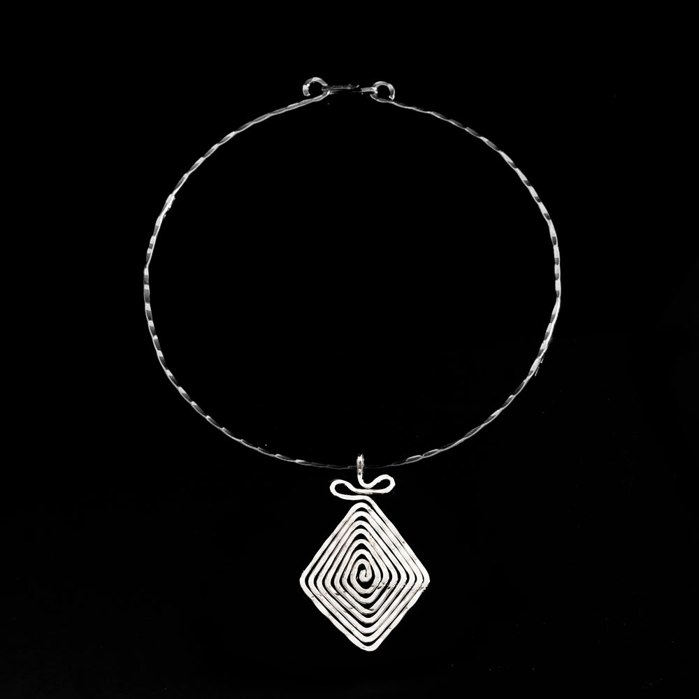 Silver plated pentant meandros symbol of eternity