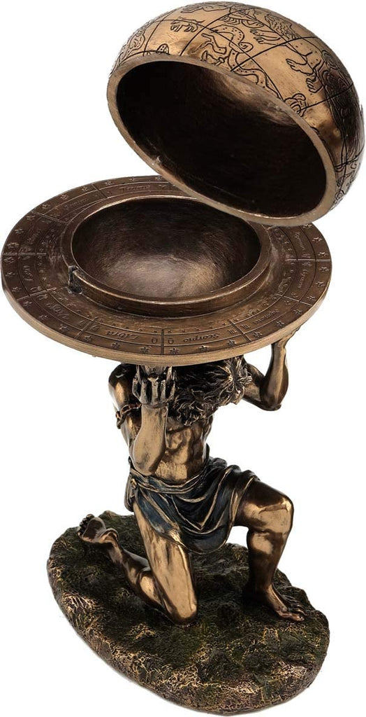 Greek Ancient Atlas Carrying The World (Decorative Bronze Finish Statue