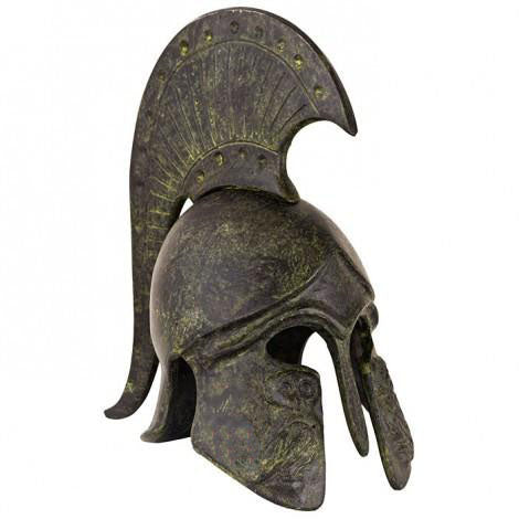 Athenian helmet with owl and crest 14cm (Athena's helmet) (bronze natural oxydite)