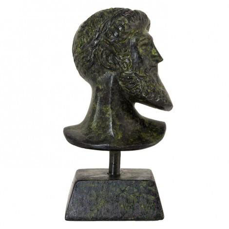 Bust of Poseidon 9cm (bronze natural oxydite)