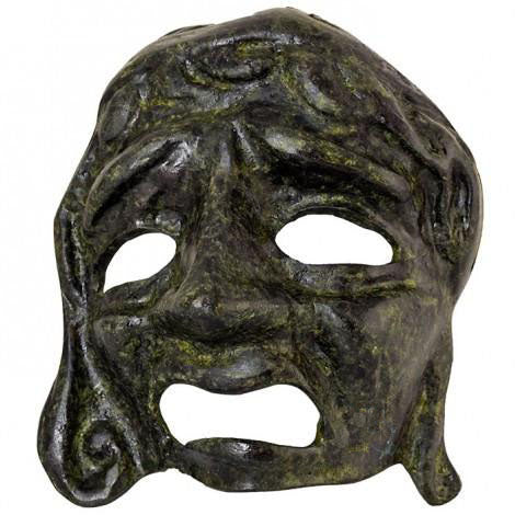 Tragedy mask 11cm (bronze natural oxydite)