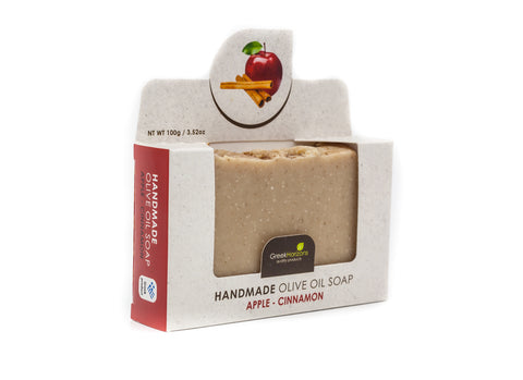Handmade olive oil soap Apple - Cinnamon 100G