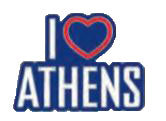 Pin I love Athens 2.5cm (Blue - White - Red)