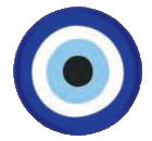 Pin Evil eye 2.5cm (Blue)