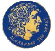 Pin Alexander the great 2.5cm (Blue - Gold)