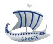 Pin Argo ship 2cm (Grey - Blue)
