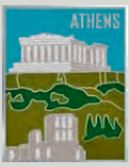 Pin Acropolis 2.5cm (Blue - White - Green)