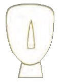 Pin Cycladic Art 2cm (White - Gold)