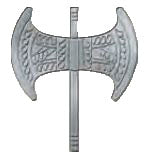 Pin Double axe 2cm (Grey)