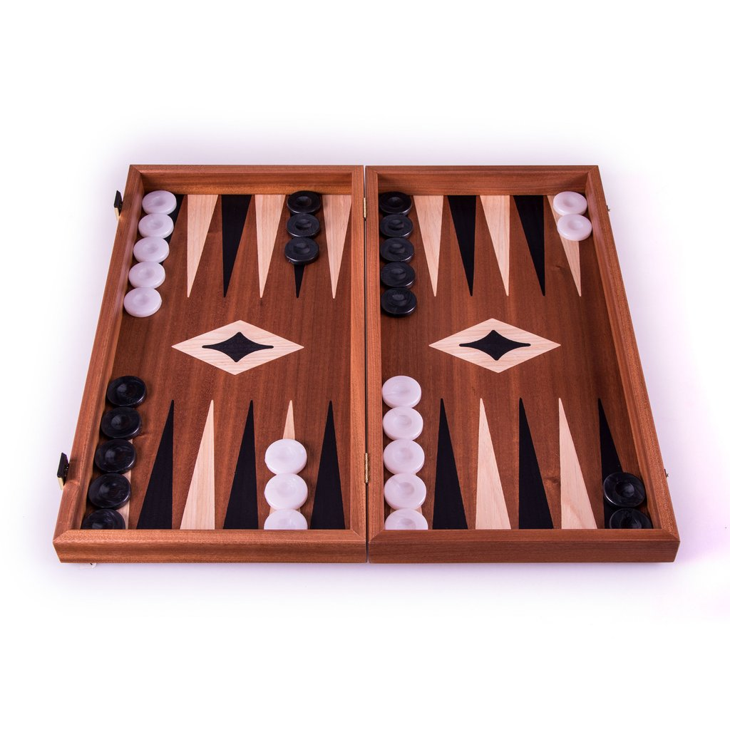 Mahogany Chess and Backgammon board  48 x 25 cm