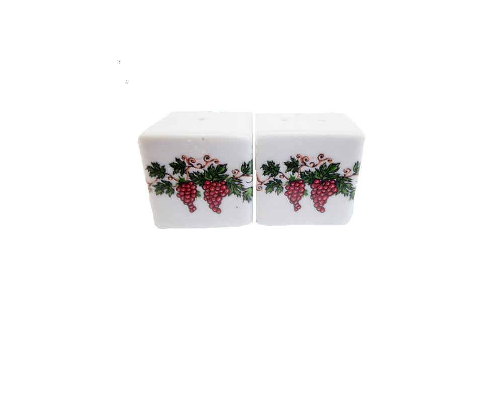 Ceramic Salt & Pepper vineyard 3cm white