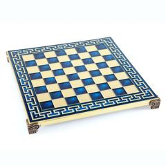 Handcrafted metallic chess board with meander (small)