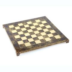 Handcrafted metallic chess board (small)