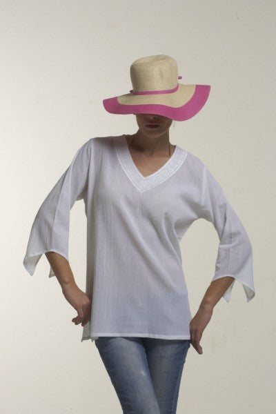 V-Neck crepe blouse