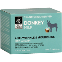 Anti-wrinkle and nourishing day cream donkey milk