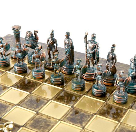 Chess set greek roman period 28cm