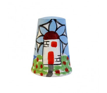 Thimble windmill 3cm colorful