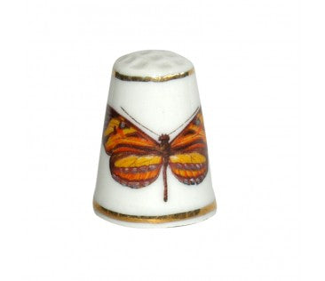 Thimble butterfly 3cm white