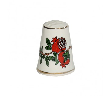 Thimble pomegranate 3cm white