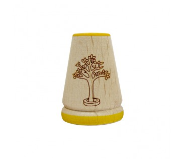 Thimble wood 3cm yellow