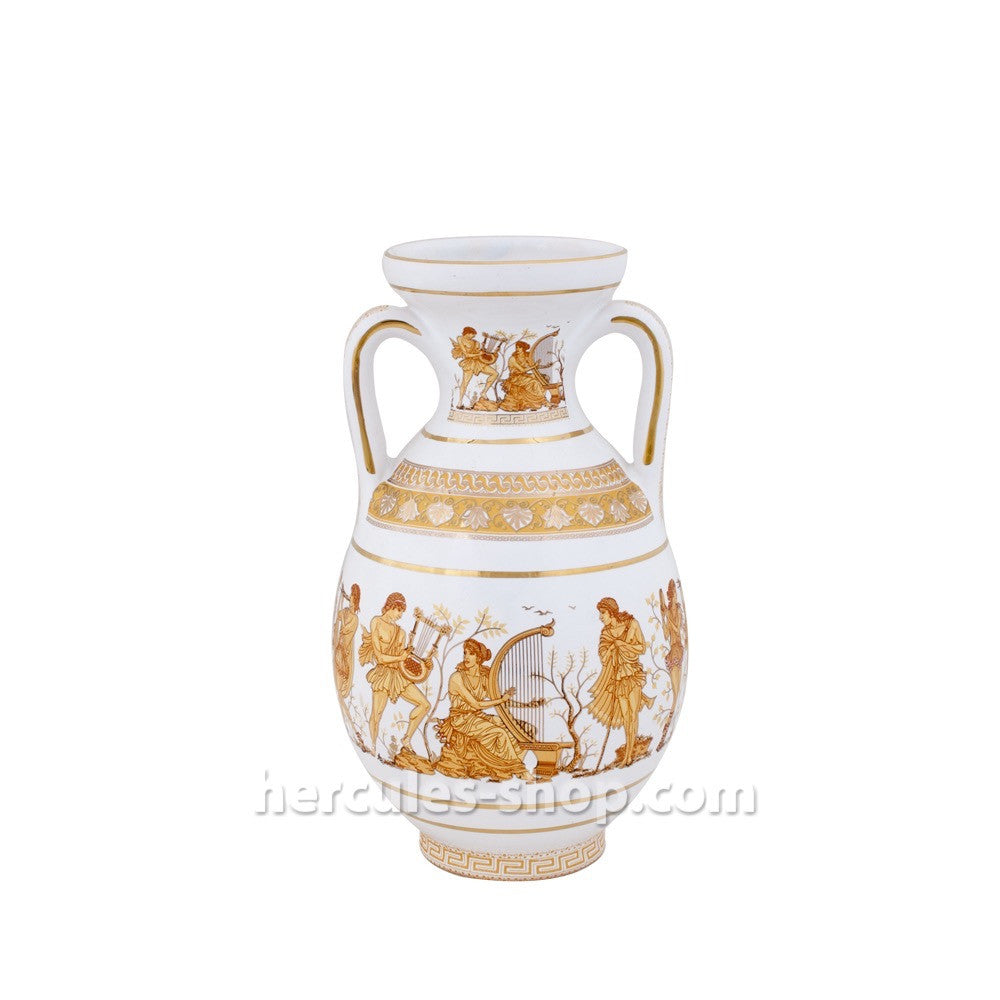 Amphora musicians 21cm (white-orange)