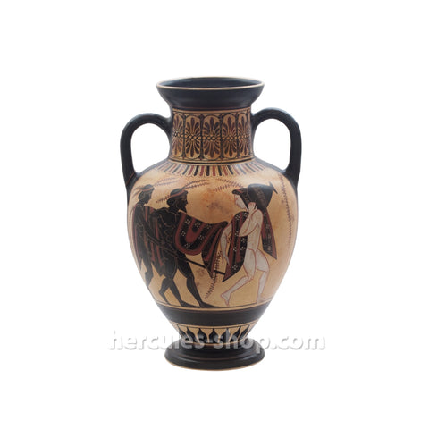 Black figured amphora classical period 560-530 BC 31cm