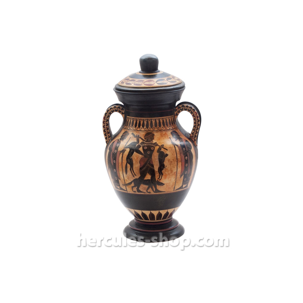 Black figured amphora