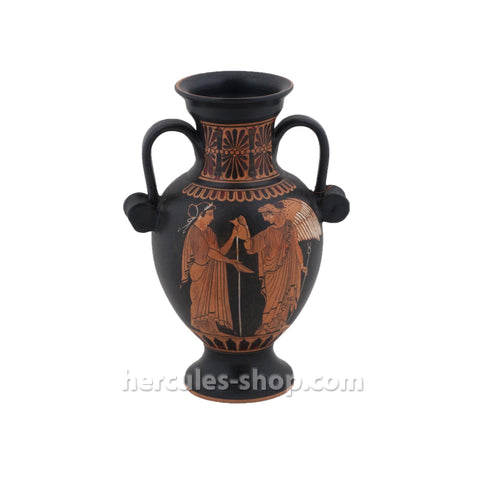Red figured amphora classical period 530 BC 21cm