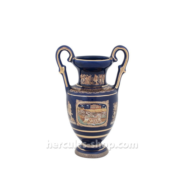 Amphora Parthenon of Athens 22cm (blue-gold)