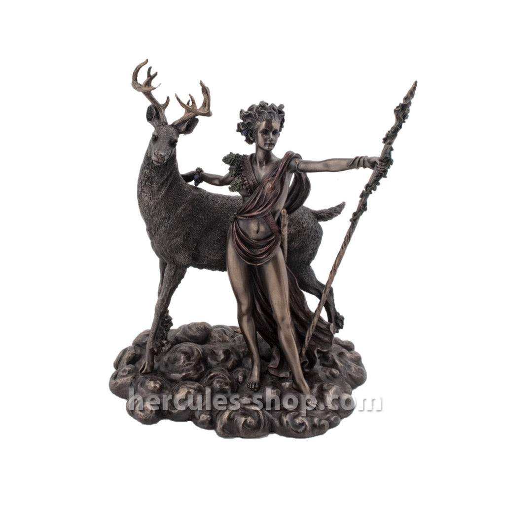 Artemis with deer and spear 26cm