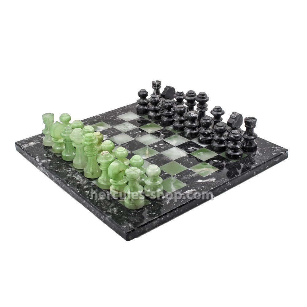 traditional Green piecies chess set 35cm