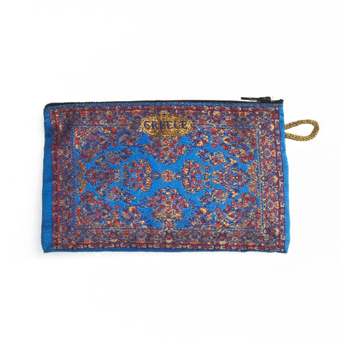 Purse brown-dark blue with greece logo 16cm