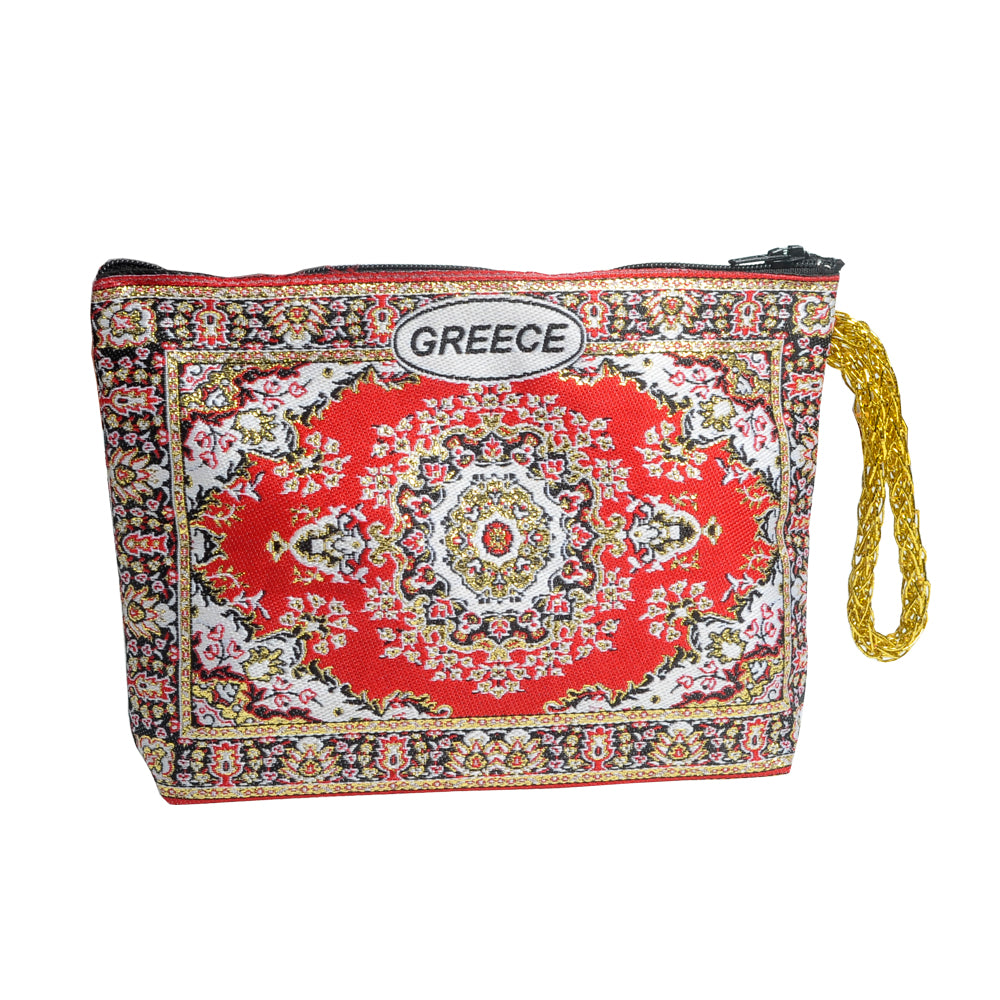 Purse red with greece logo 16cm