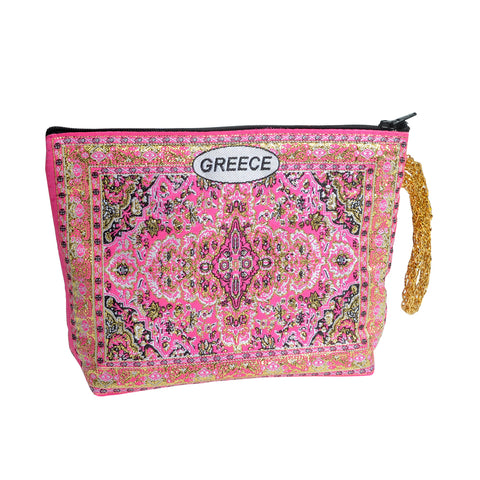 Purse light pink with greece logo 16cm