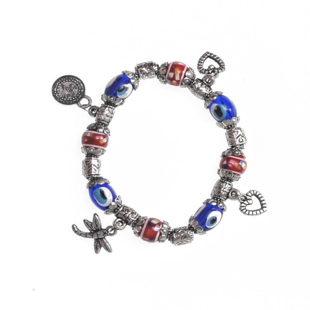 Charms Bracelet dark red 7.5cm
