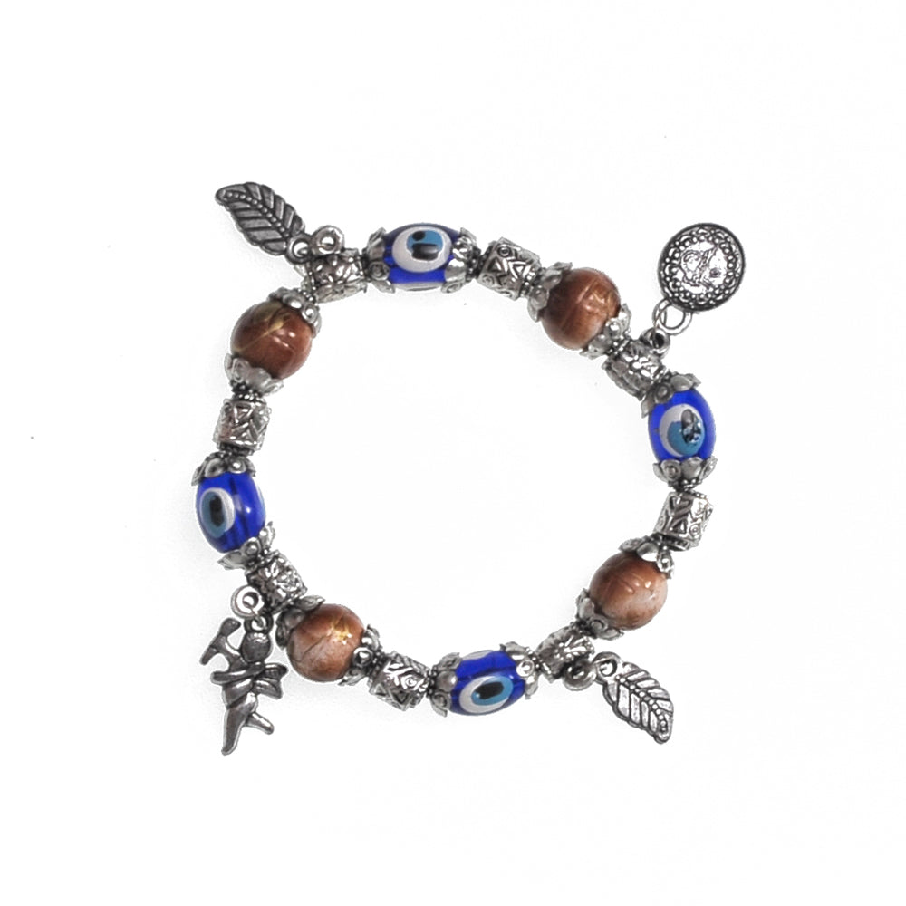 Charms Bracelet brown 7.5cm