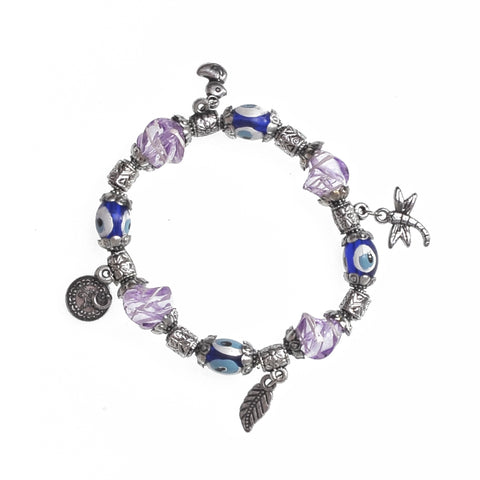 Charms Bracelet blue - puple 7.5cm