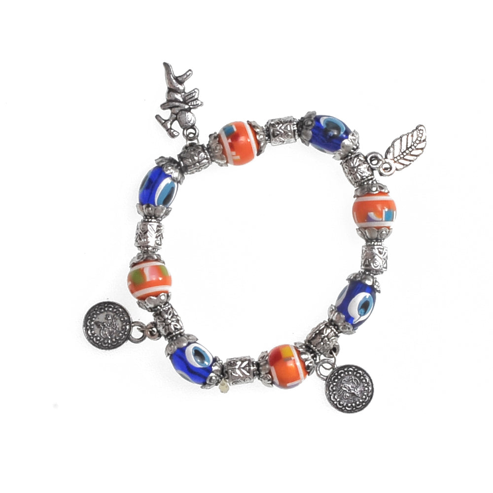Charms Bracelet orange 7.5cm