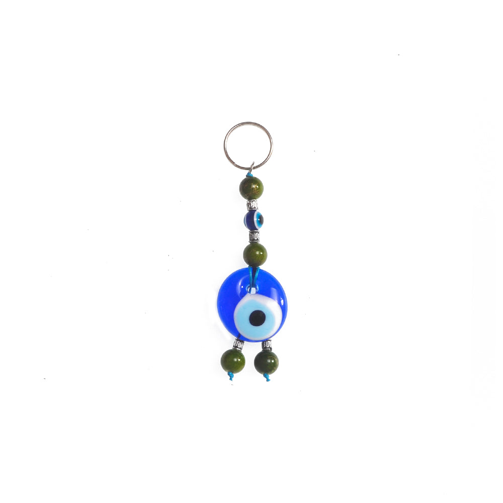 Keychain charm for the evil eye dark green 10cm
