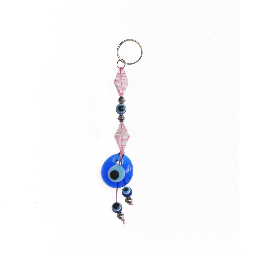 Keychain charm for the evil eye pink 10cm