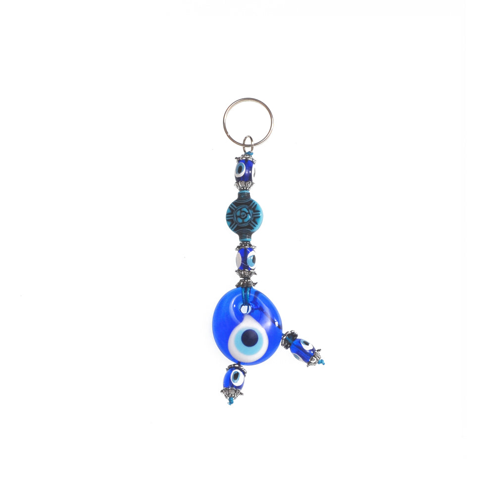 Keychain charm for the evil eye light blue 10cm