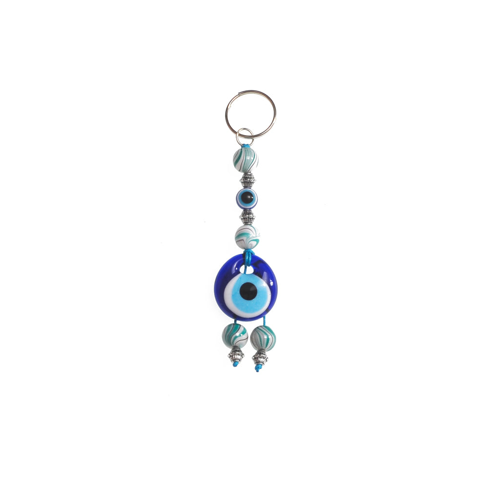 Keychain charm for the evil eye white 10cm
