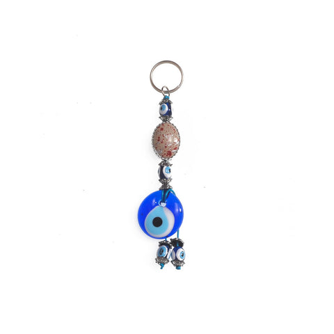 Keychain blue evil eye