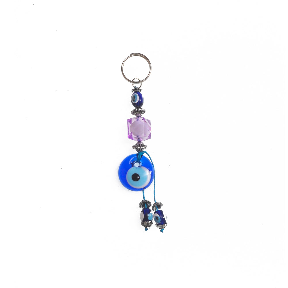 Keychain charm for the evil eye purple 10cm