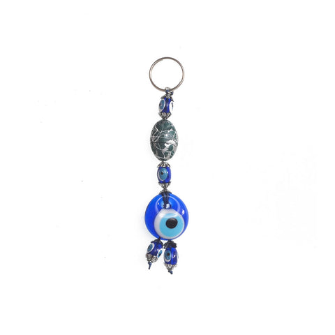 Keychain evil eye dark green 10cm
