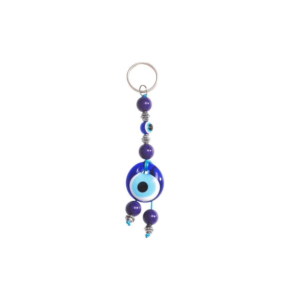 Keychain charm for the evil eye blue 10cm
