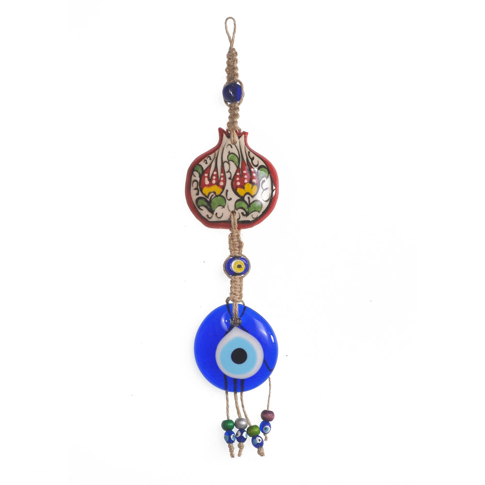 Keychain charm for the evil eye red - yellow - green 10cm