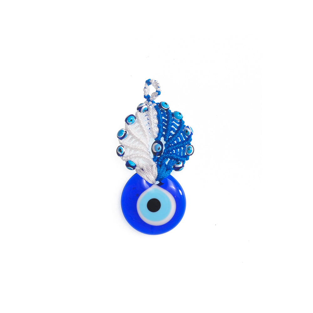 Keychain charm for the evil eye blue - white 10cm