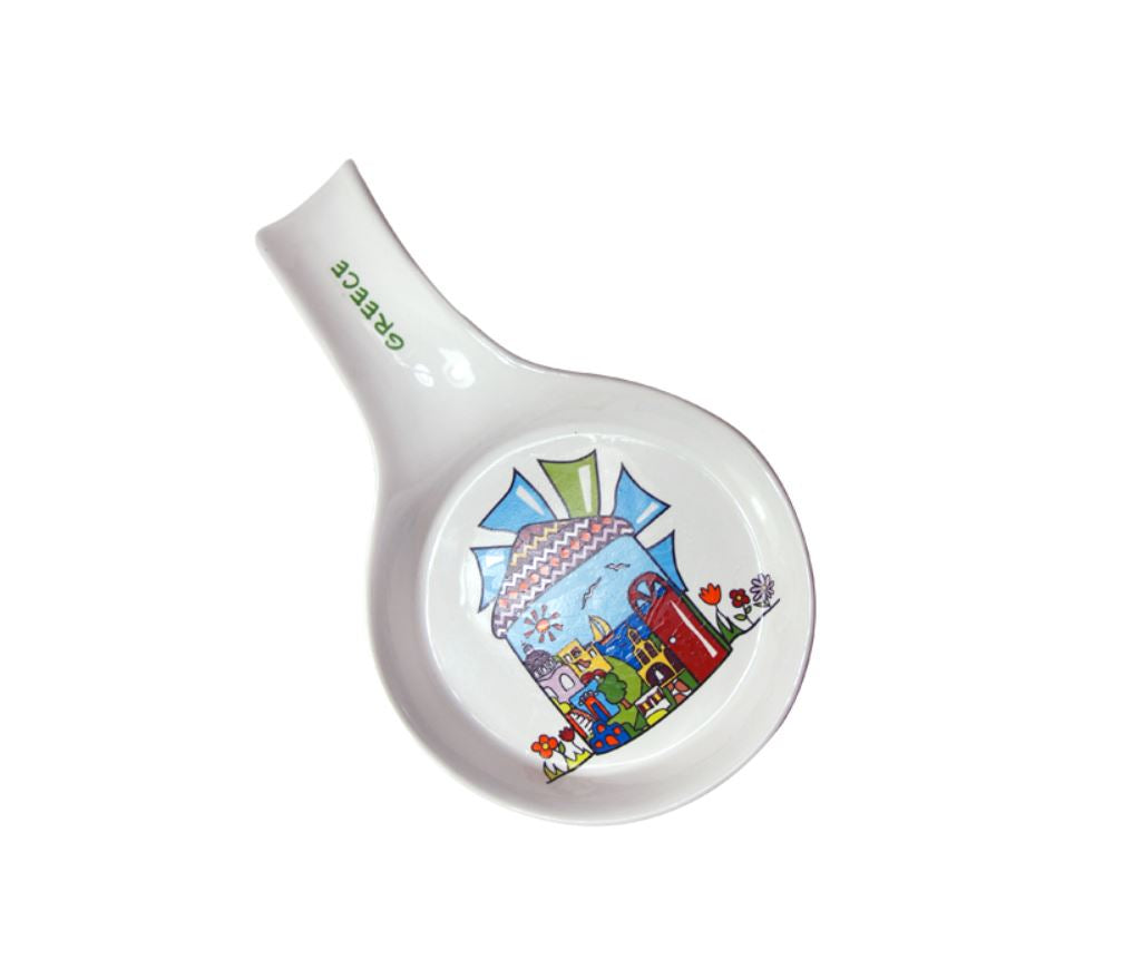 Porcelain ladle windmill 20cm colorful