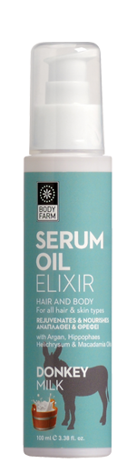 Serum oil for hair and body donkey milk
